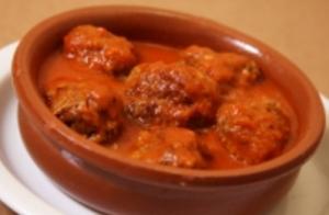 スペイン料理のレストランで食べたミートボール