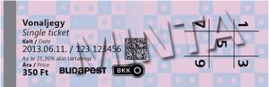 ブダペストの地下鉄とメトロの乗車券